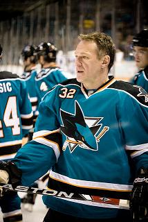 Claude Lemieux as a member of the San Jose Sharks (Jill Goodell/Flickr)