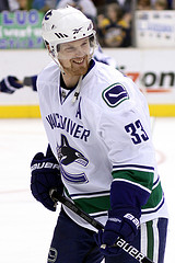 Henrik Sedin leads all scorers in this year's Stanley Cup Playoffs (Photo by Chassen Ikiri).