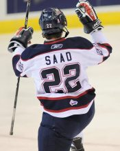 Saad is red hot after Hawks return him to Saginaw (Aaron Bell/CHL Images)