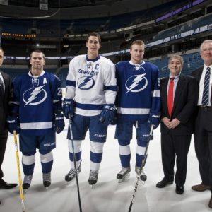 Charitable work is a defining characteristic of Vinik's Lightning. (Tampa Bay Lightning/Scott Audette)