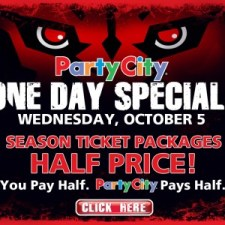 Panthers half price tickets