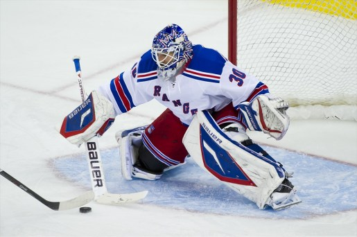 New York Rangers goaltender Henrik Lundqvist, just one year removed from a Vezina Trophy-winning campaign is seriously not this bad.  Really. He's playing like he's a Flyers goaltender or something.