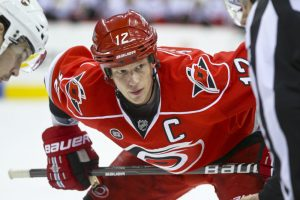 The Hurricanes decided to give Eric Staal the captaincy midway through the 2010 season, months before Brind'Amour retired. - Photo by Andy Martin Jr