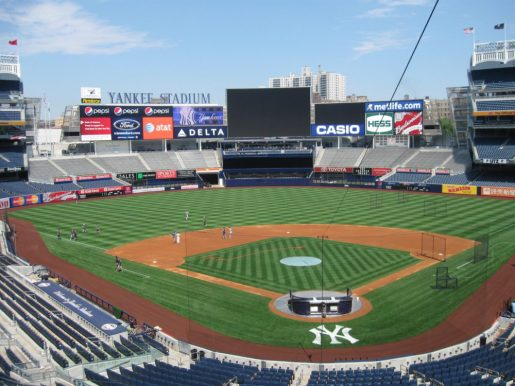 The Devils & Rangers will skate at Yankee Stadium on January 26, 2014. (photo courtesy of the New York Yankees)