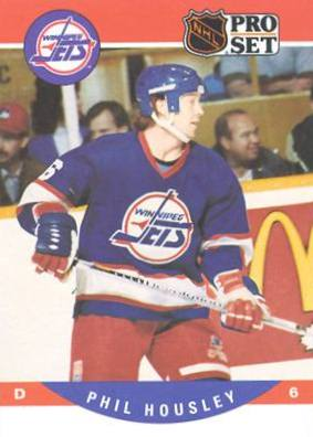 A Phil Housley Jets card, early in his tenure with the team.
