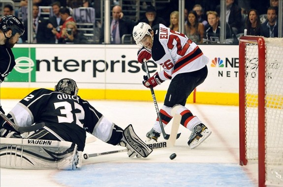 Damien Brunner & Patrik Elias have a chance to be a dynamic duo. (Jayne Kamin-Oncea-US PRESSWIRE)