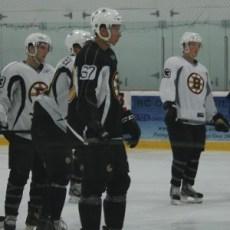 Cody Payne (67) attending the Boston Bruins 2012 Development Camp