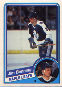 Jim Benning's 1984-85 O-Pee-Chee card.