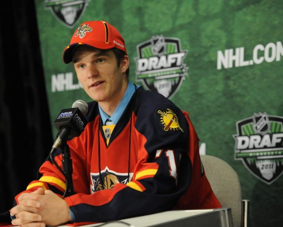 Jonathan Huberdeau was an astute draft pick by the Florida Panthers; they hope to replicate success at the 2013 NHL Draft. (Aaron Bell/CHL Images)