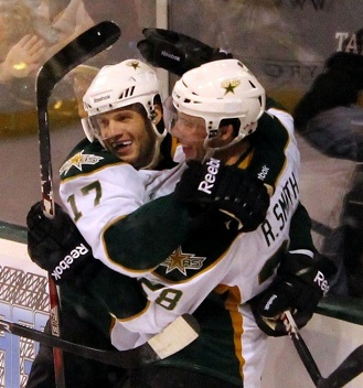 Reilly Smith and Tomas Vincour goal celebration