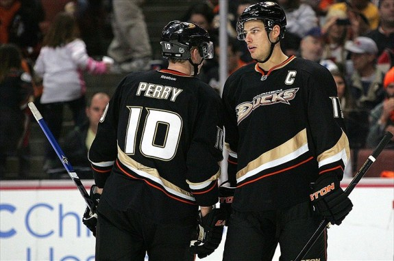 Ryan Getzlaf and Corey Perry Will Likely Skate with Patrick Marleau for Team Canada(Jake Roth-USA TODAY Sports)