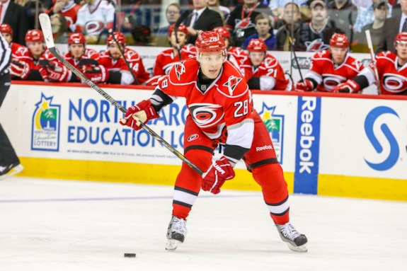 Alex Semin is getting paid a lot of money to be a regular healthy scratch [Photo by Andy Martin Jr]