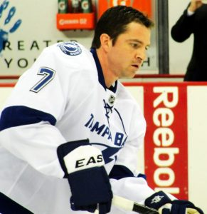 Brett Clark while with the Tampa Bay Lightning