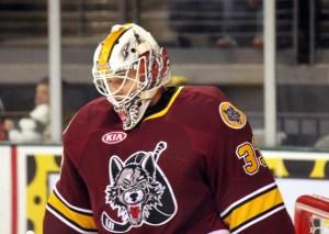 Matt Climie is the Wolves' starting goalie (Ross Bonander / THW)