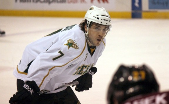 Colton Sceviour is second in the AHL in scoring and is a big part of the Stars' success this season. (Ross Bonander / THW)