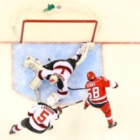 Carolina Hurricanes Chris Terry - first NHL Goal - Photo By Andy Martin Jr