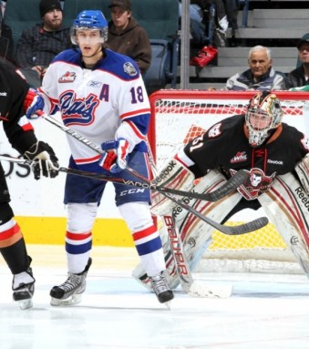 Morgan Klimchuk gets to play in front of friends and family in Calgary (Brad Watson/WHL)