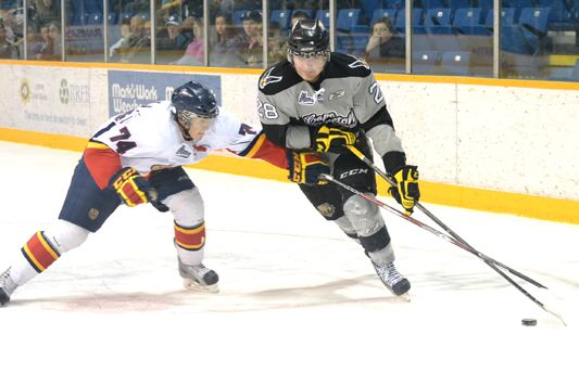Carrier was the lone bright spot for the struggling Screaming Eagles (Source: Cape Breton Post)