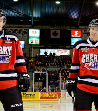 Nathan MacKinnon and Jonathan Drouin. (David Chan)