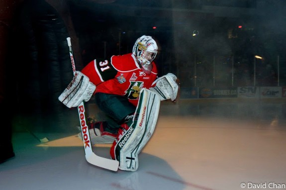 Zach Fucale might just be the first goalie selected at this year's NHL Draft. [photo: David Chan]