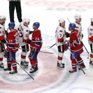 Canadiens and Senators shake hands at the end of a grueling series for the Habs (Jean-Yves Ahern-USA TODAY Sports)