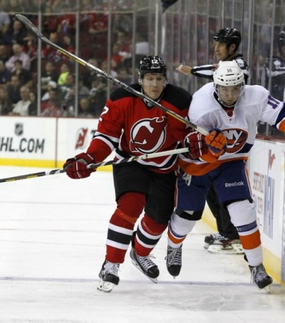 Damien Brunner made an impact in his return to the Devils lineup. (Noah K. Murray-USA TODAY Sports)