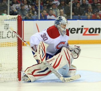 Peter Budaj, backup goalie for the Montreal Canadiens