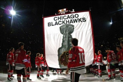 Sheldon Brookbank and the Chicago Blackhawks have their work cut out for them in the 2014 Stanley Cup Playoffs. (Rob Grabowski-USA TODAY Sports)