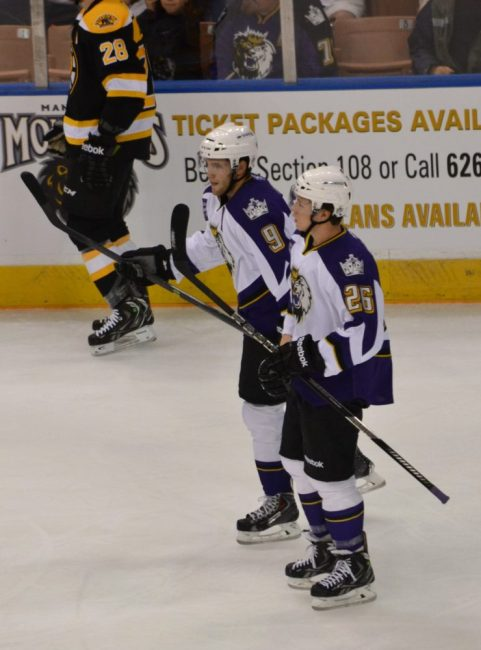 Tyler Toffoli and Linden Vey are two of the biggest reasons for the Monarchs' success to date. (Josh Weinreb Photo)