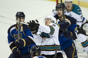The Blues dropped another game to Pacific Division team Tuesday, 4-2 (Jasen Vinlove-USA TODAY Sports)