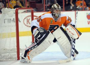 Steve Mason will miss Game Three, avoiding a potential goalie controversy for now.