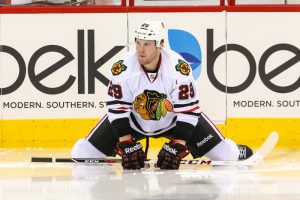 The Blackhawks may struggle in finding a team who is willing to deal Bryan Bickell to. - Mandatory Photo Credit:  Andy Martin Jr