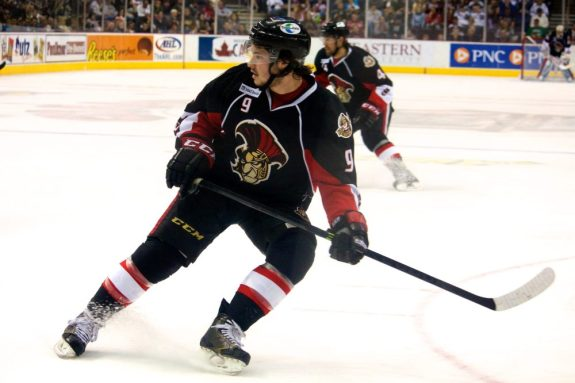 Matt Puempel will be a key part of the Senators offense this playoffs.  (Annie Erling Gofus/The Hockey Writers)
