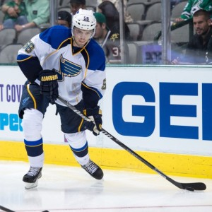 Magnus Paajarvi contributed in the Blues ugly win Tuesday