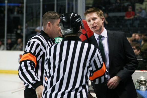 UND head coach Dave Hakstol, UND Athletics/Kory Wallen