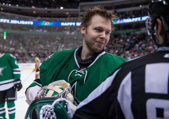 Kari Lehtonen hopes to make the playoffs for the second season in a row. (Jerome Miron-USA TODAY Sports)