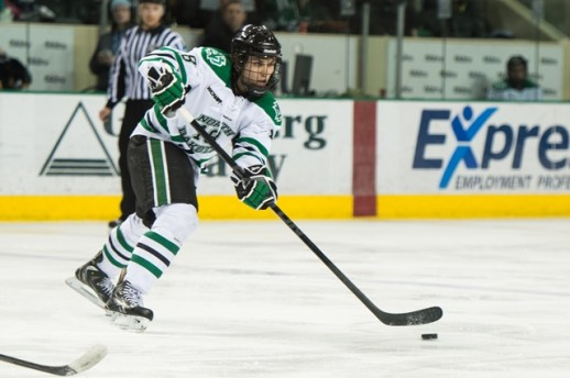 UND defenseman Dillon SImpson, (Eric Classen/ UND Athletics)