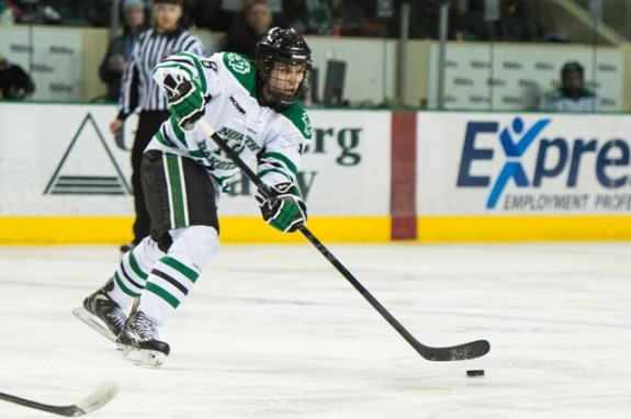 UND defenseman Dillon SImpson, Eric Classen UND Athletics