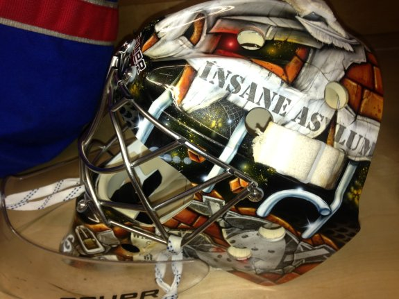 Another look at Gibson's mask Photo Credit: (Norfolk Admirals)