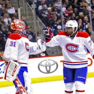 Montreal Canadiens goalie Carey Price and P.K. Subban
