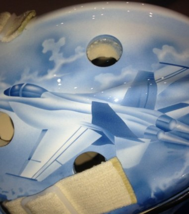 Note the fighter jet on Thiessen's lid Photo Credit: (Norfolk Admirals)