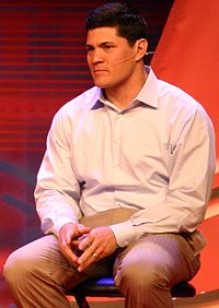 Former New England Patriots' linebacker Tedy Bruschi, returned to football after having a stroke like Kris Letang. (Wikipedia Commons)