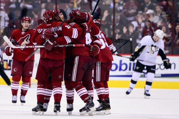 The Phoenix Coyotes remain a possible candidate to move to Seattle in a few years. (Jennifer Stewart-USA TODAY Sports)