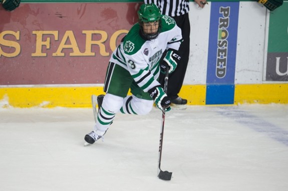 UND forward Connor Gaarder (Eric Classen/UND Athletics)