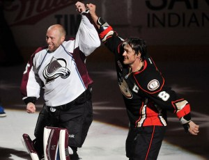 Teemu Selanne, J.S. Giguere, Anaheim Ducks, Hockey, NHL, Retirement
