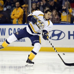 Del Zotto was not offered a Qualifying offer by the Predators after the 2014-2015 season. He was picked up by Philadelphia that August. (Kevin Hoffman-USA TODAY Sports)