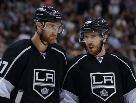 Jeff Carter & Mike Richards have now played in four Conference Finals the past five seasons. (Kirby Lee-USA TODAY Sports)