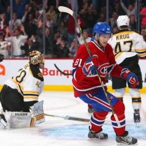 Former Montreal Canadiens forward Lars Eller and Boston Bruins goalie Tuukka Rask