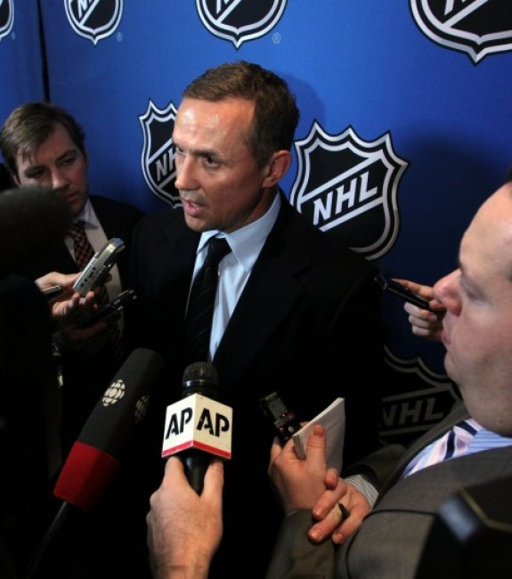 Yzerman and Stamkos have been at the center of the hockey world as Stamkos has remained unsigned leading up to next Friday's free agency period. (Brad Penner-USA TODAY Sports)