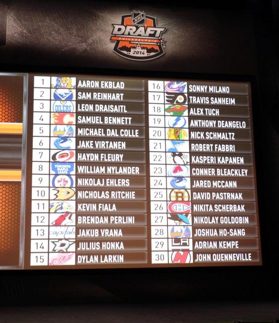 2014 NHL Draft: The Picks